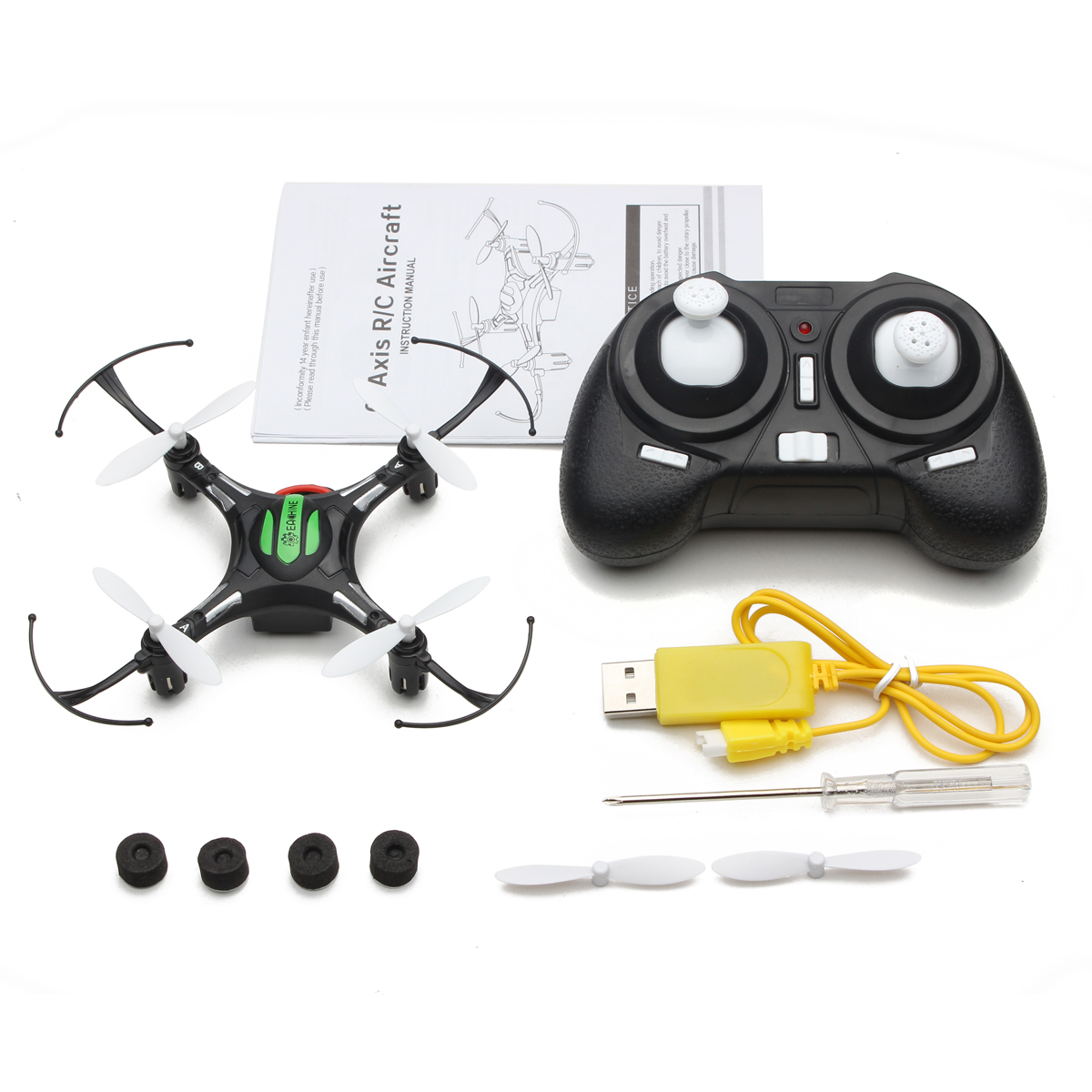 Eachine H8 Mini Headless Modus 2.4G 4CH 6 Achse RC Quadcopter RTF Mode 2 (Schwarz)
