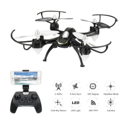 Eachine E33W WiFi FPV With Camera Headless Mode LED Light RC Quadcopter RTF