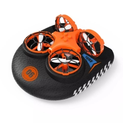 Eachine E016F 3-in-1 EPP Flying Air Boat Land Driving Mode Detachable One Key Return RC Quadcopter RTF - Two Batteries