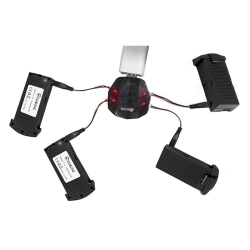 Eachine E520 E520S RC Drone Quadcopter Spare Parts 4-IN-1 USB Charger Charging Box with 7.4V 1200MAH 25C LiPo Battery Combo Set