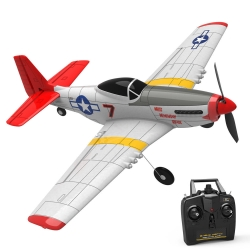 Eachine Mini Mustang P-51D EPP 400mm Wingspan 2.4G 6-Axis Gyro RC Airplane Fixed Wing RTF One Key Return - Two batterries