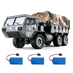 Eachine EAT01 1/16 2.4G 6WD RC Car Proportional Control US Army Military Off Road Rock Crawler Truck RTR Vehicle Model W/ Several Battery - 01
