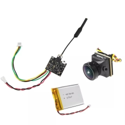 Eachine VTX03S + Caddx Turbo EOS2 All in One 0/25/50/100/200mw 40CH 5.8G FPV Transmitter 4:3 1200TVL 2.1mm Mini FPV Camera with 3.7V 500mAh LiPo Battery