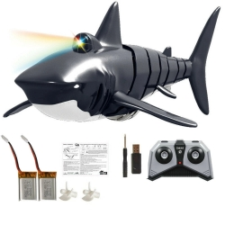 Eachine EBT01 with 2/3 Batteries 2.4G 4CH Electric Shark RC Boat Vehicles Waterproof Swimming Pool Simulation Model Toys - Three Batteries