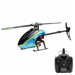 Eachine E160 6CH Brushless 3D6G System Flybarless RC Helicopter RTF Compatible with FUTABA S-FHSS - RTF(1 Battery)