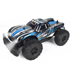 Eachine EAT08 RTR 1/14 2.4G RWD RC Car Front LED Light Off-Road Vehicles Model Kids Children Toys - Blue