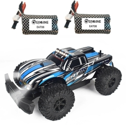 Eachine EAT08 RTR with 2/3 Battery 1/14 2.4G RWD RC Car Front LED Light Off-Road Vehicles Model Kids Children Toys - Red Two Batteries