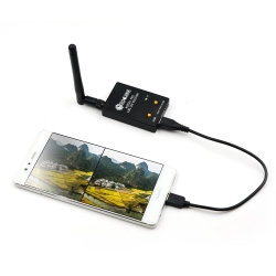 Eachine ROTG01 Pro UVC OTG 5.8G 150CH Full Channel FPV Receiver W/Audio For Android Smartphone - Black