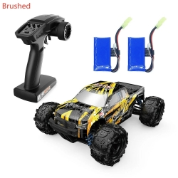 Eachine EAT10 1:18 Brushed Remote Control Truck 4WD High Speed 42 Km/h All Terrains Electric Off Road Monster RC Car Model Vehicle Crawler Two Batteries - Yellow