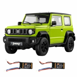 Eachine&FMS RC12002 RTR 1/12 RC Car with Two batteries 2.4G Two Speed Transmission RC Crawler with LED Lights for RC Model Car Enthusiasts for JIMNY