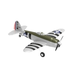 Eachine Mini P-47 Razorback Bonnie Warbird EPP 500mm Wingspan RTF 2.4G 6-Axis Gyro Stabilizer RC High Scale Airplane Fixed Wing with Flight Controller for Beginner - Two Batteries