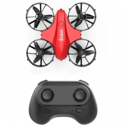Eachine E008 Mini 2.4G 4CH 6 Axis Headless Mode Infrared Obstacle Avoidance RC Drone Quadcopter RTF - Red One Battery