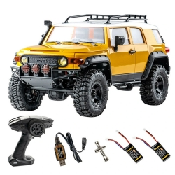 Eachine & FMS Two Battery for TOYOTA FJ Crusier RTR 1/18 2.4G 4WD RC Car Crawler Vehicles Off-Road Truck Toys