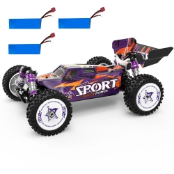 Eachine EAT14 RTR Several Battery 1/14 2.4G 4WD 75km/h Brushless RC Car Vehicles Metal Chassis Proportional Model Toys - Blue+Two Battery
