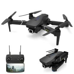 Eachine E520S GPS WIFI FPV With 4K/720P HD Camera 16mins Flight Time Foldable RC Drone Quadcopter RTF - Black Without Storage Bag 720P Two Batteries